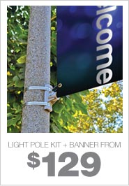 Light Pole Kit + Banner From $129
