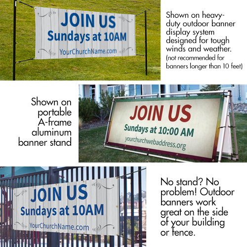 Banners, You're Invited, UMC Easter Steps - 4x8, 4' x 8' 2