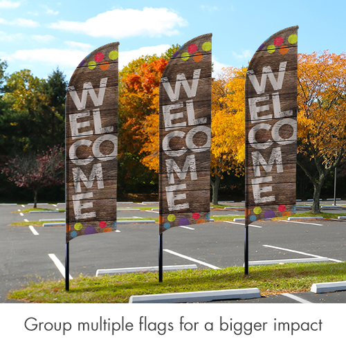 Banners, Geometric Bold Your Text Here, 2' x 8.5' 2