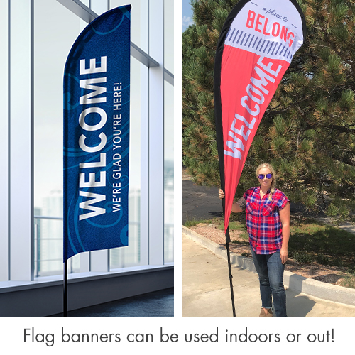 Banners, Geometric Bold Your Text Here, 2' x 8.5' 3