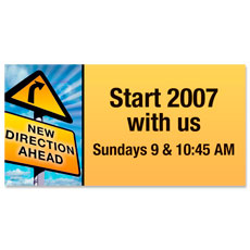 New Direction Ahead Banner