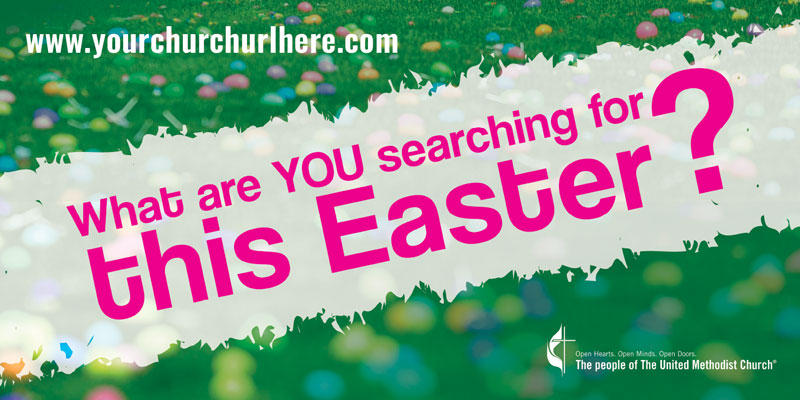 Banners, You're Invited, UMC Easter Search - 4x8, 4' x 8'