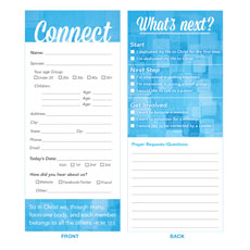 Connection Card Blue