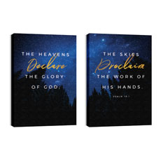 Night Sky Gold Script Psalm 19