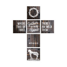 Mod Dark Wood Cross Set