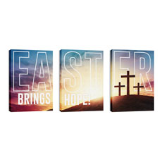 Easter Hope Outline Triptych