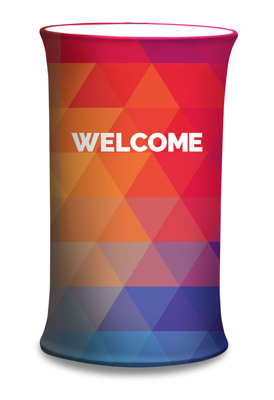 Counter Sleeves, Welcome, Geometric Bold Welcome, Small Oval