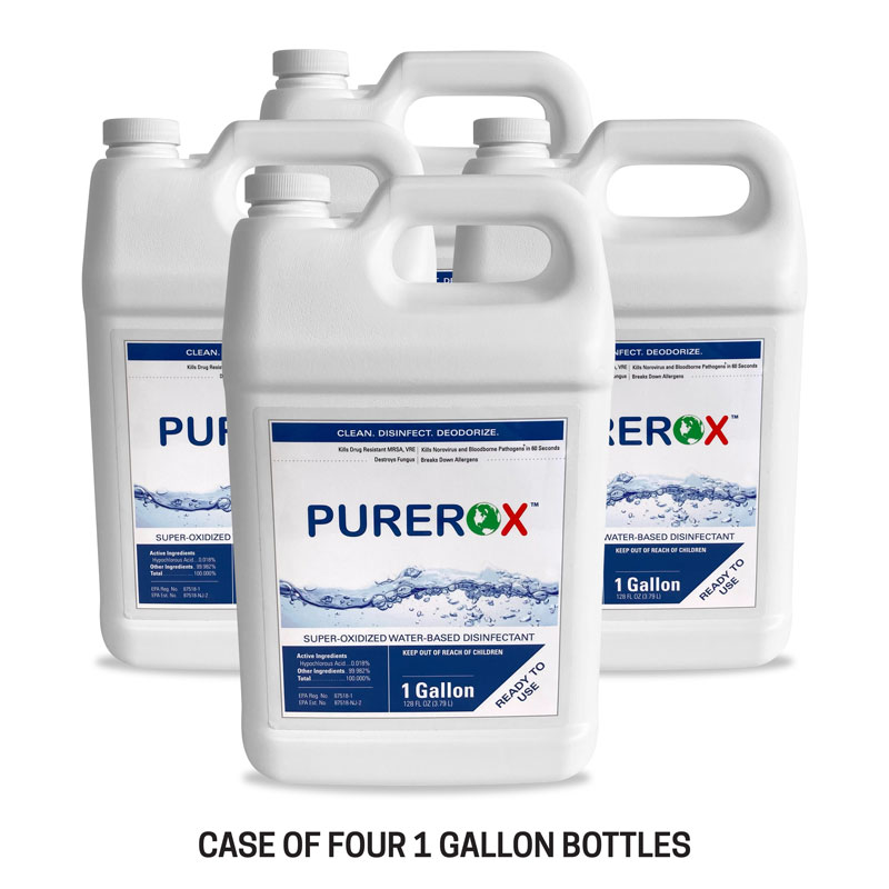 Safety Products, Safety, Purerox Covid-19 Disinfectant for Fogger in 1 Gallon Containers (Case of 4)
