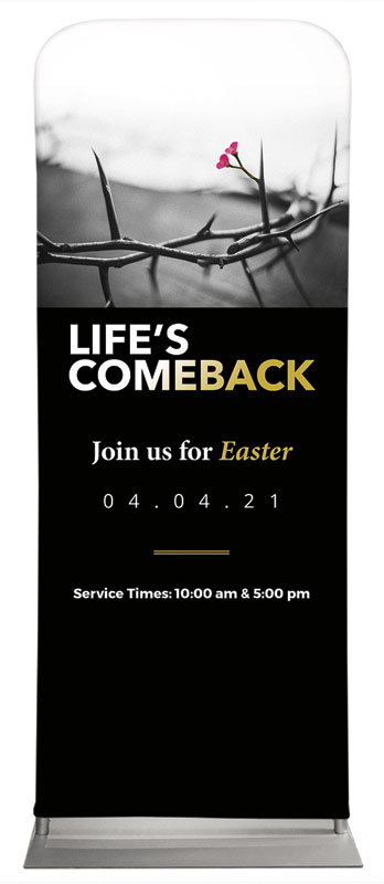 Banners, Easter, Life's Comeback, 2'7 x 6'7