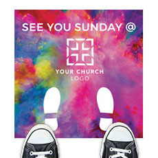 Back To Church Easter See You Sunday