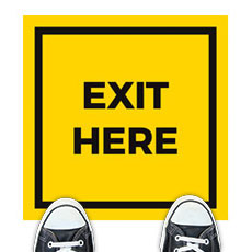 Yellow Exit Here
