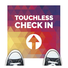 Geometric Bold Touchless Check In