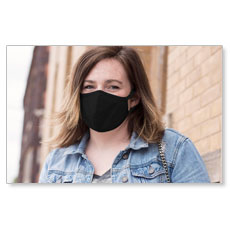 Black Reusable Cloth Face Mask (Pack of 10)