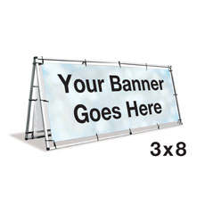 A-Frame Banner Stand - 3x8