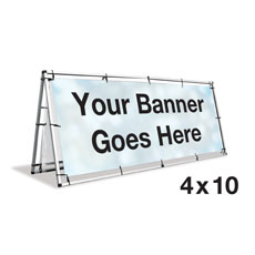 A-Frame Banner Stand - 4x10