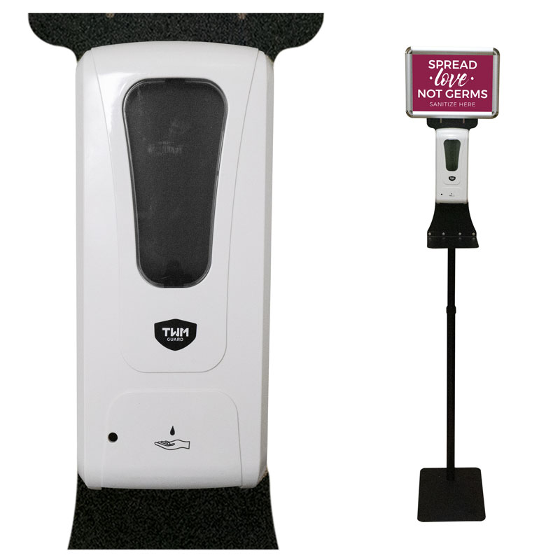 Safety Products, Safety, Touchless Hand Sanitizer Station with Sign Holder