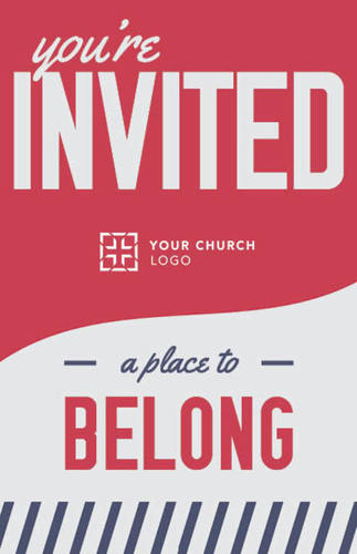 Church Postcards, Welcome, To Belong Red, 5.5 X 8.5