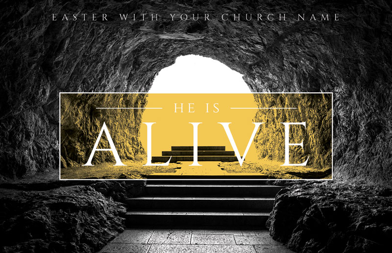 Church Postcards, Easter, Alive Empty Tomb, 5.5 X 8.5