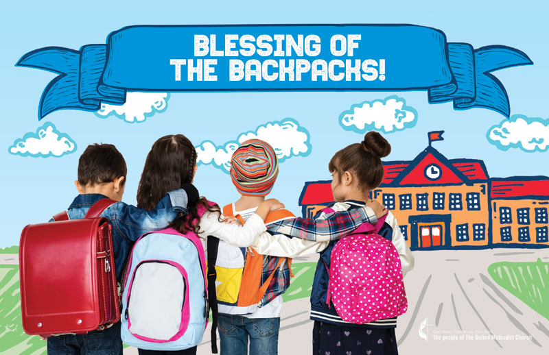 Church Postcards, UMC Kids Blessings, 5.5 X 8.5