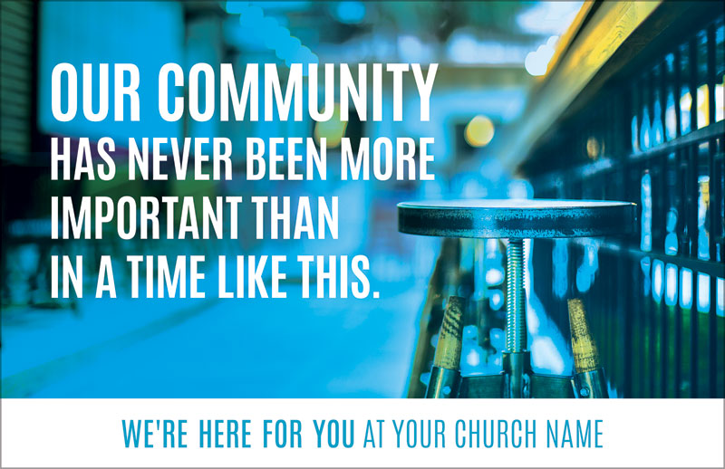 Church Postcards, Welcome Back, Important Community, 5.5 X 8.5