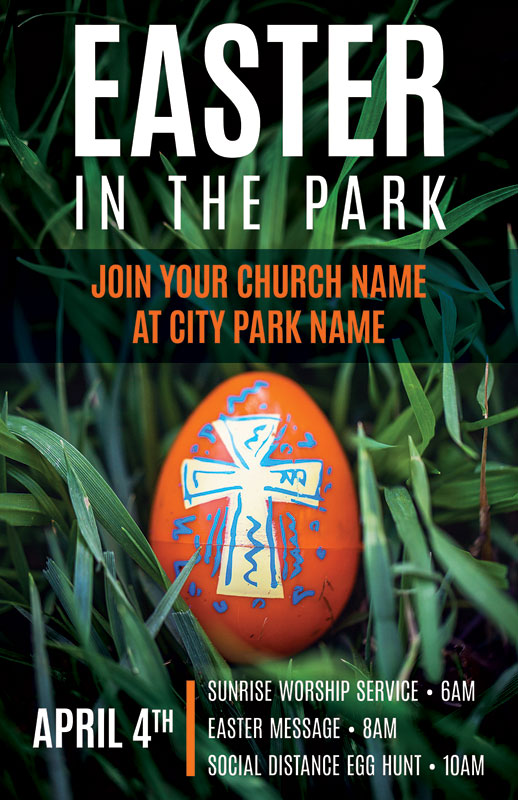 Church Postcards, Easter, Easter In Park Grass, 5.5 X 8.5