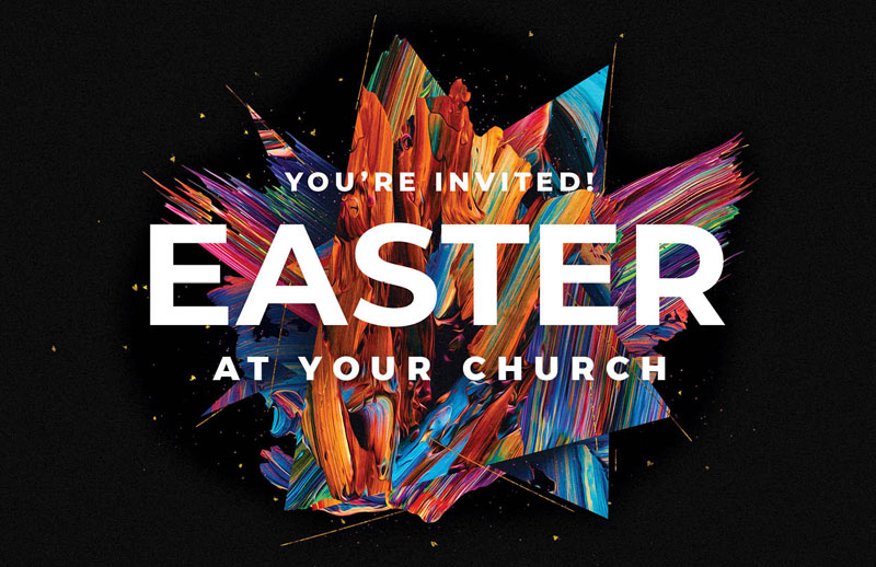 Church Postcards, Easter, CMU Easter Invite 2021, 5.5 X 8.5