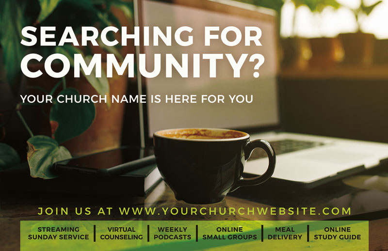 Church Postcards, Welcome, Searching For Community, 5.5 X 8.5