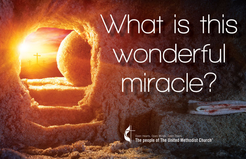 InviteCards, You're Invited, UMC Easter Wonderful Miracle, 4.25 x 2.75