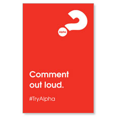 Alpha Comment Out Loud Red