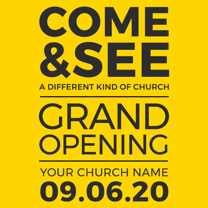 InviteCards, Events, Yellow Grand Opening, 4 x 4