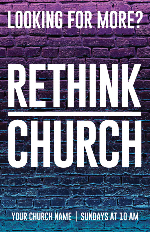 InviteCards, Summer - General, Rethink Church Bricks, 4.25 x 2.75