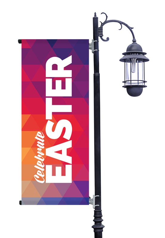 Banners, Easter, Geometric Bold Easter, 2' x 5'