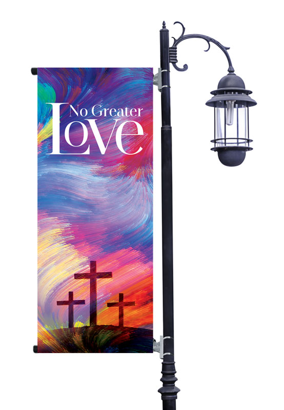 Banners, Easter, No Greater Love, 2' x 5'