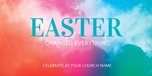 Church Postcards, Easter, Easter Color 11 x 5.5 Oversized Postcard, 5.5 x 11