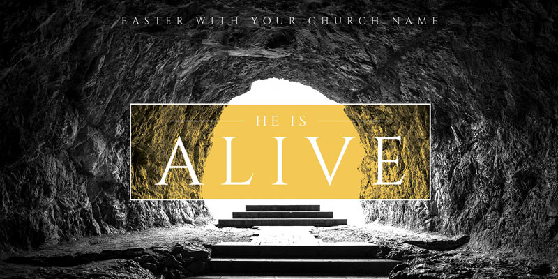 Church Postcards, Easter, Alive Empty Tomb, 5.5 x 11