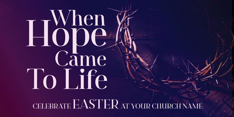 Church Postcards, Easter, Hope Came to Life, 5.5 x 11