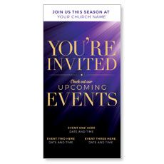 Purple Custom Invite