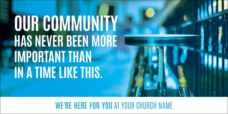 Church Postcards, Welcome Back, Important Community, 5.5 x 11
