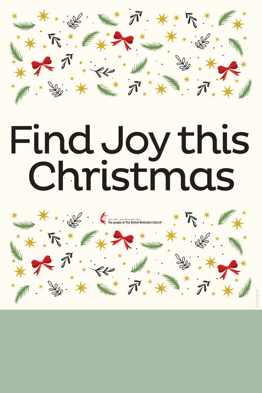 Posters, Christmas, UMC Find Joy, 12 x 18