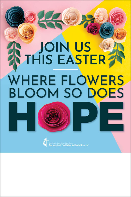 Posters, Easter, UMC Bright Flower, 12 x 18