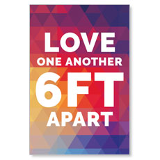 Geometric Bold Love One Another