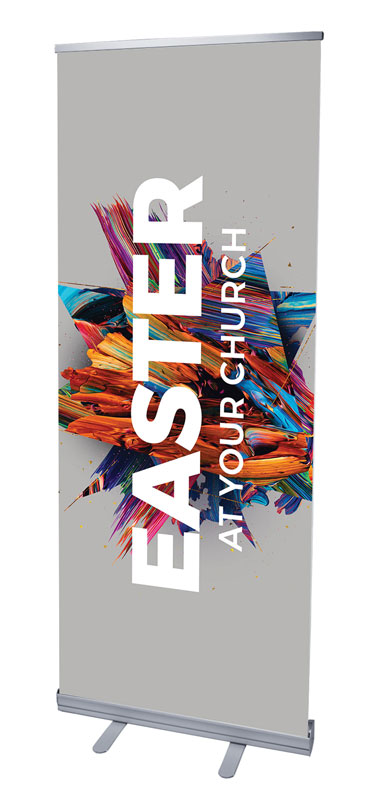 Banners, You're Invited, CMU Easter Invite 2021 Grey, 2'7 x 6'7