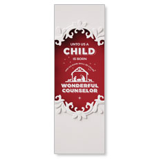 Paper Cut Out Christmas Red