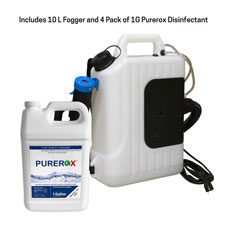 10L Fogger and Purerox Covid-19 Disinfectant Kit