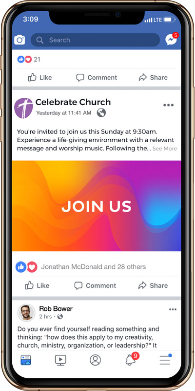 Social Ads, UMC You Are Welcome Join Us