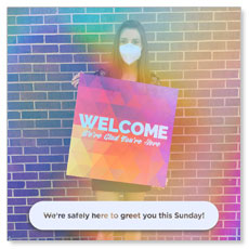 Greeter Mask Welcome Back Colors