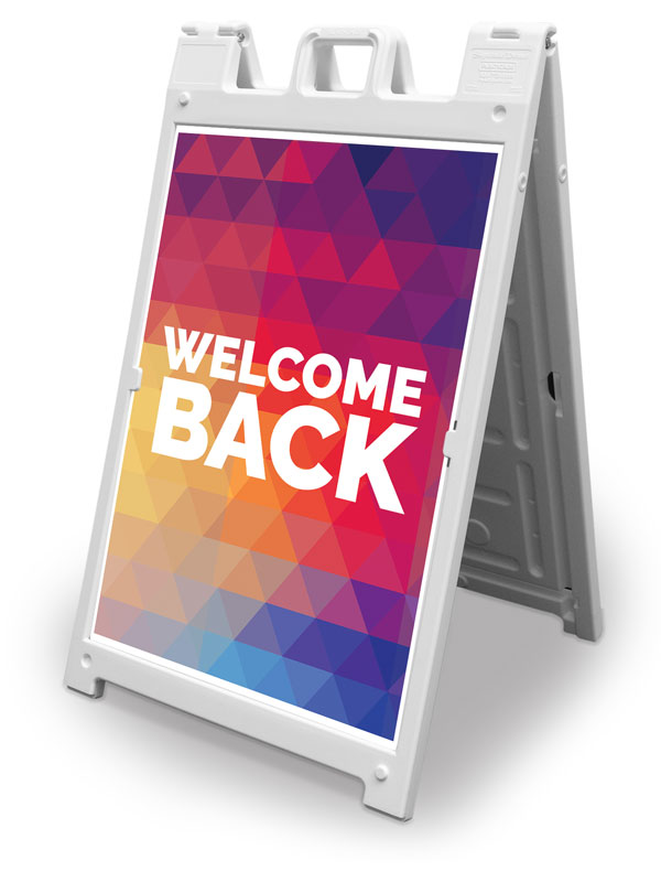 Banners, Welcome Back, Geometric Bold Welcome Back, 2' x 3'
