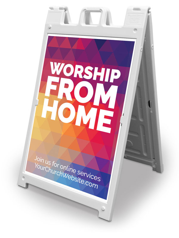 Banners, You're Invited, UMC Geometric Bold Worship From Home, 2' x 3'