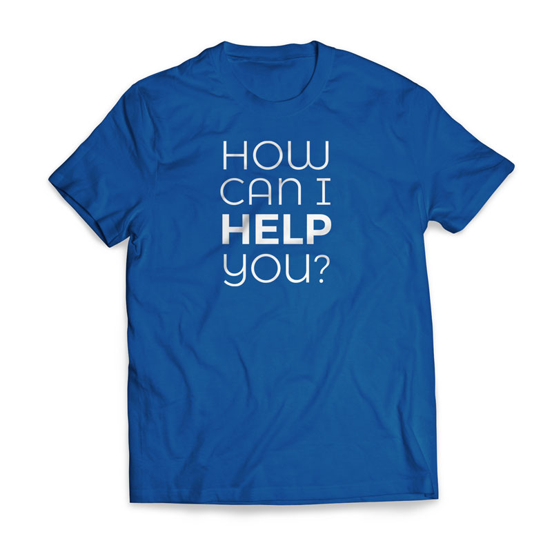 T-Shirts, Greeter How Can I Help - Large, Large (Unisex)
