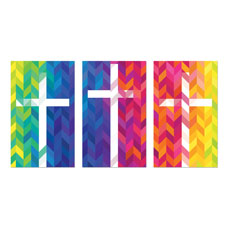 Bright Chevron Crosses